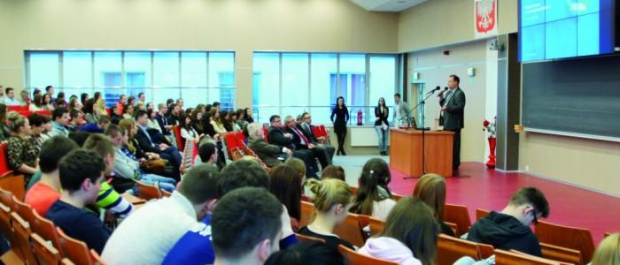 лекция в польском университете